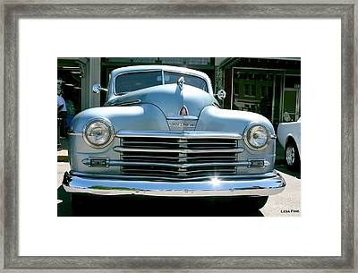 Vintage Plymouth Art Framed Print by Lesa Fine