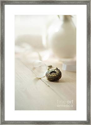 Vintage Pocket Watch And The Ribbon Framed Print