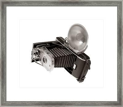 Vintage Polaroid Camera Framed Print by Jim Hughes