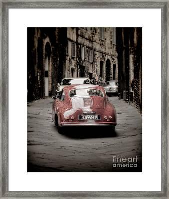 Vintage Porsche Framed Print