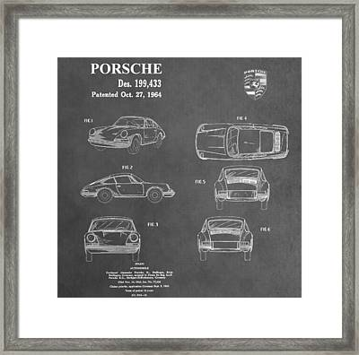 Vintage Porsche Patent Framed Print