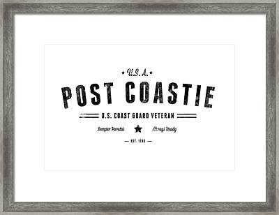 Vintage Post Coastie Framed Print