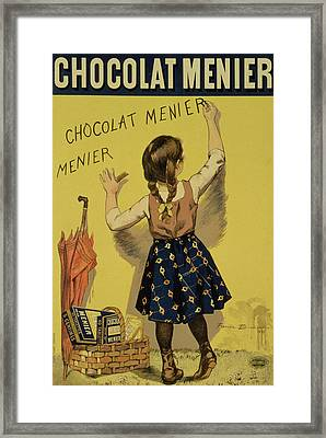 Vintage Poster Advertising Chocolate Framed Print by Firmin Bouisset