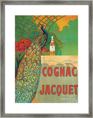 Vintage Poster Advertising Cognac Framed Print by Camille Bouchet
