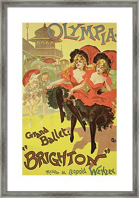 Vintage Poster   Brighton Framed Print by Pal