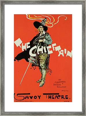 Vintage Poster For The Chieftain At The Savoy Framed Print by Dudley Hardy