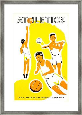 Vintage Poster - Wpa - Athletics 1 Framed Print