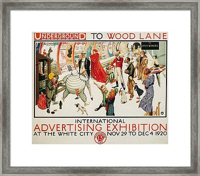 Vintage Posters Framed Print by Classic