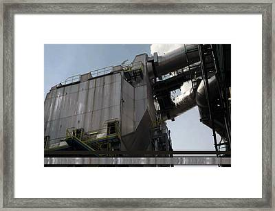 Vintage Power Plant  Part View Industrial Photography Framed Print by Navin Joshi