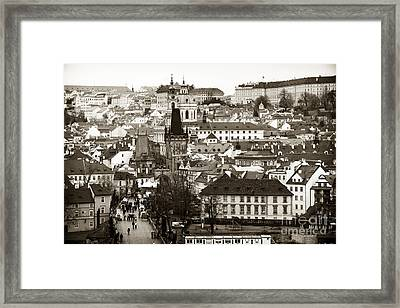 Vintage Prague Framed Print by John Rizzuto