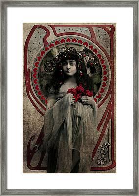 Vintage Princess Red Framed Print by Lesa Fine
