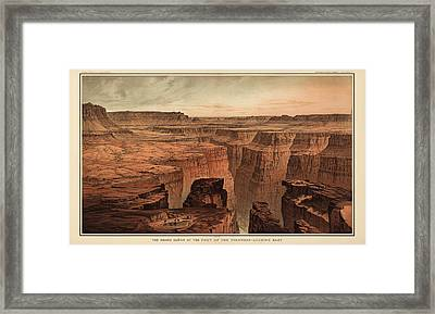 Vintage Print Of The Grand Canyon By William Henry Holmes - 1882 Framed Print by Blue Monocle