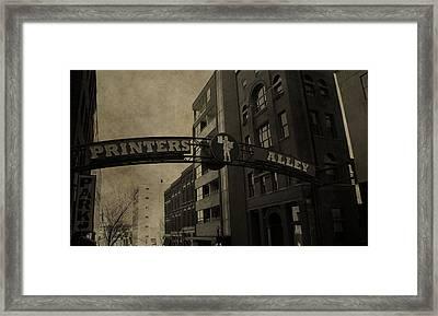 Vintage Printer's Alley Framed Print by Dan Sproul