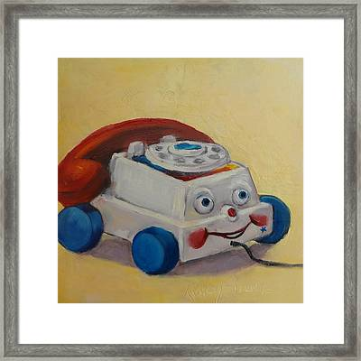 Vintage Pull Toy Series Phone Framed Print by Kelley Smith