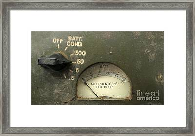 Vintage Radiation Meter Framed Print by Yali Shi