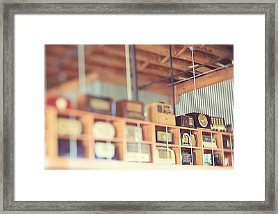 Framed Print featuring the photograph Vintage Radio Collection by Heather Green
