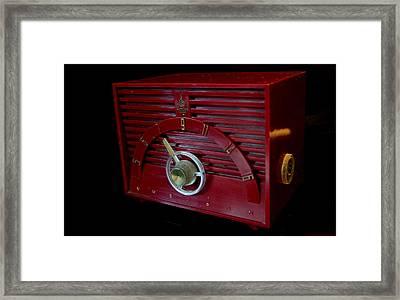 Vintage Radio Framed Print
