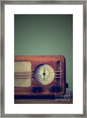 Vintage Radio Framed Print by Jelena Jovanovic