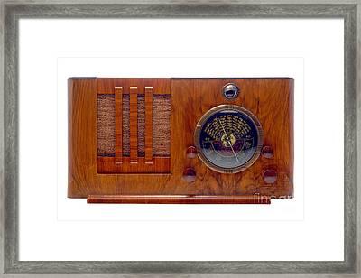 Vintage Radio Framed Print by Olivier Le Queinec