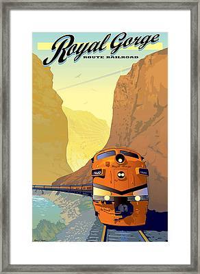 Vintage Railroad Poster Framed Print
