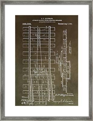 Vintage Railway Switch Patent Framed Print