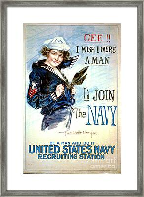Vintage Recruiting Poster 1917 Framed Print by Padre Art