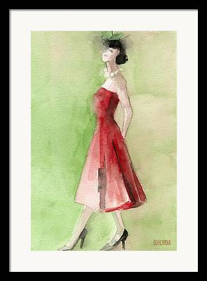 1950s Fashion Framed Prints