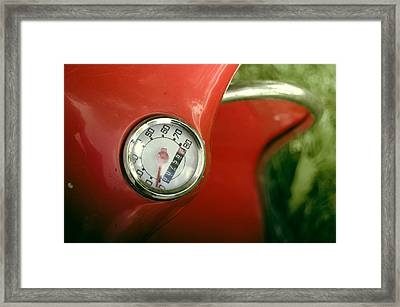 Vintage Red Moped Odometer Framed Print by Mr Doomits
