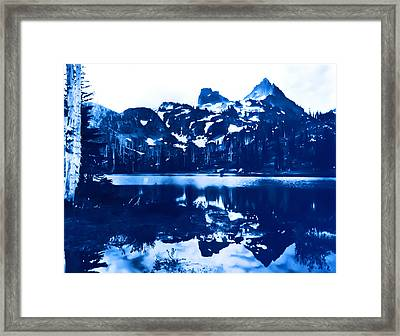 Vintage Reflection Lake  With Ripples Early 1900 Era... Framed Print by Eddie Eastwood