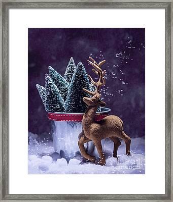 Vintage Reindeer Framed Print