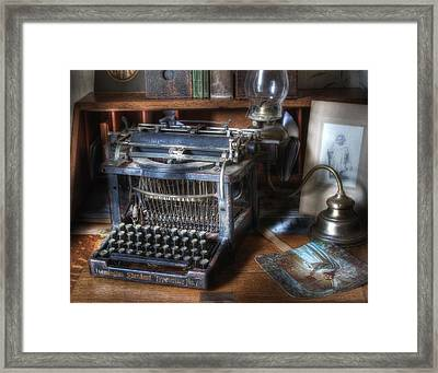 Vintage Remington Typewriter Framed Print by David and Carol Kelly