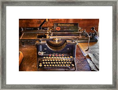 Vintage Remington Typewriter  Framed Print by Saija  Lehtonen