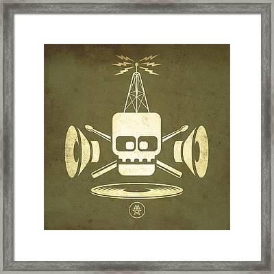 Vintage Rock Transmission Framed Print by Milton Thompson