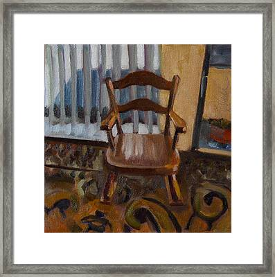 Framed Print featuring the painting Vintage Rocker by Pattie Wall