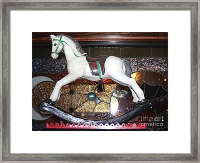 Vintage Rocking Horse Framed Print
