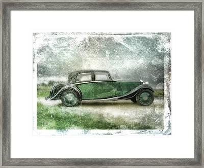 Vintage Rolls Royce Framed Print by David Ridley