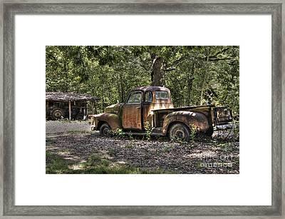 Vintage Rust Framed Print by Benanne Stiens