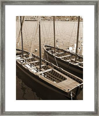 Framed Print featuring the photograph Vintage Sail by Tamyra Crossley
