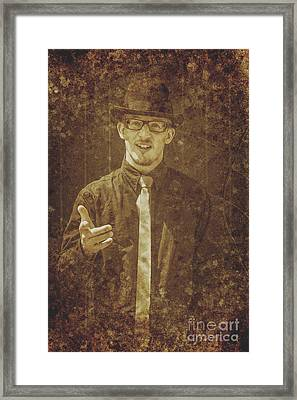 Vintage Salesman Framed Print by Jorgo Photography - Wall Art Gallery