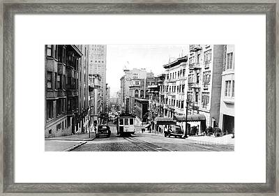 Vintage San Francisco Cable Car Framed Print
