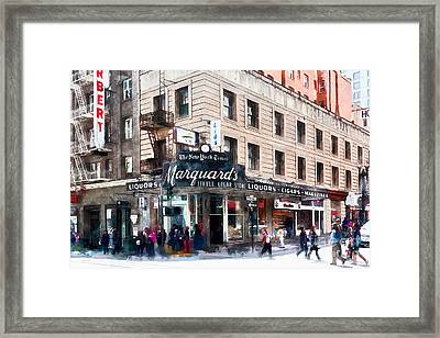 Vintage San Francisco Marquards Little Cigar Store Powell Street 5d17950wcstyle Framed Print by Wingsdomain Art and Photography