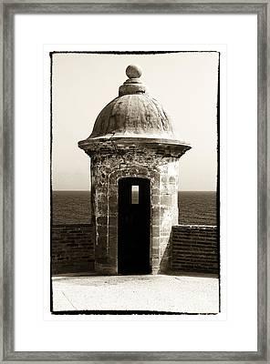 Vintage San Juan Guard Tower Framed Print by John Rizzuto