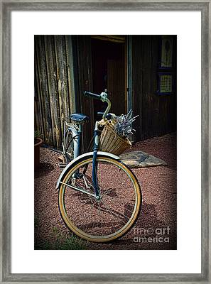 Vintage Schwinn And The Barn Door Framed Print by Paul Ward