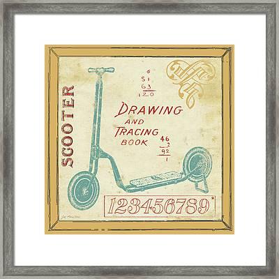 Vintage Scooter Framed Print