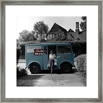 Vintage Sealtest Milk Truck Framed Print by Andrew Fare