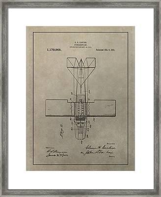 Vintage Seaplane Patent Framed Print