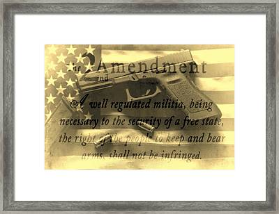 Vintage Second Amedment Framed Print by Dan Sproul