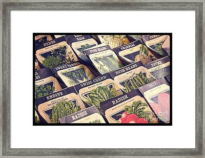 Vintage Seed Packages Framed Print by Edward Fielding