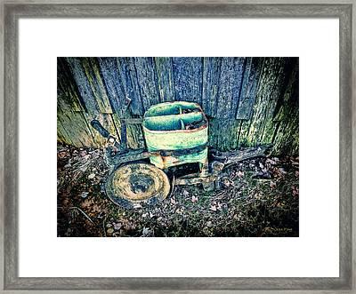 Vintage Seeder 4 - Color Hdr_blue Framed Print by Lesa Fine
