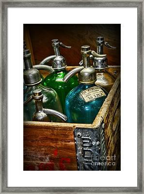 Vintage Seltzer Bottles Framed Print by Paul Ward